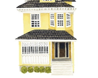 Custom house portrait - personalized painting of your home (home portrait)
