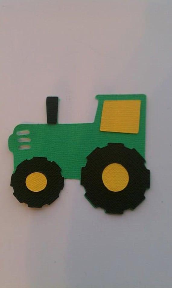 John Deere Tractor Cutouts : Items similar to john deere tractor die cut four on etsy