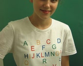 Alphabet  T Shirt  for really cool preschoolers and their teachers MY LEARNING SHIRT