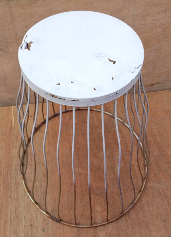 Upcycled Rustic Side Or Bedside Table White And By