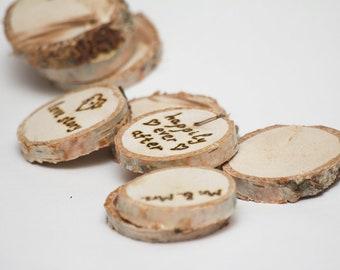 wedding magnets 3 pcs, rustic magnets, wood wedding magnets, rustic wedding, rustic wedding decor, rustic wedding decoration