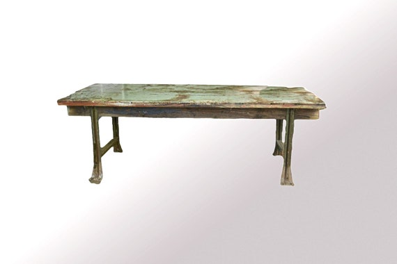 Counter Height Industrial Table : Items similar to Vintage Industrial Table Counter Height with Cast ...