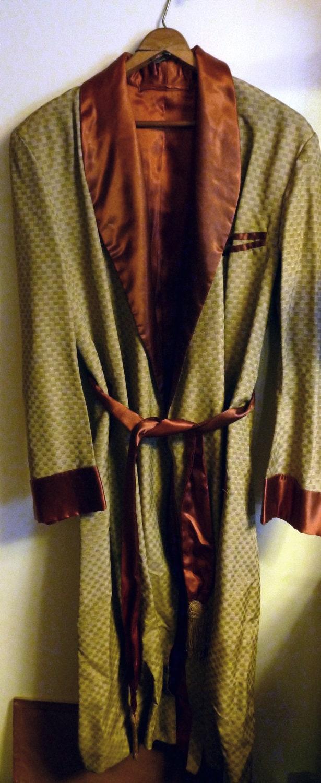 Men S 1950s Smoking Jacket Robe Vintage Robe 1950s By