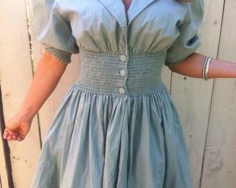 80's Does 50's Lucy Dress/ Retro/ Rockabilly