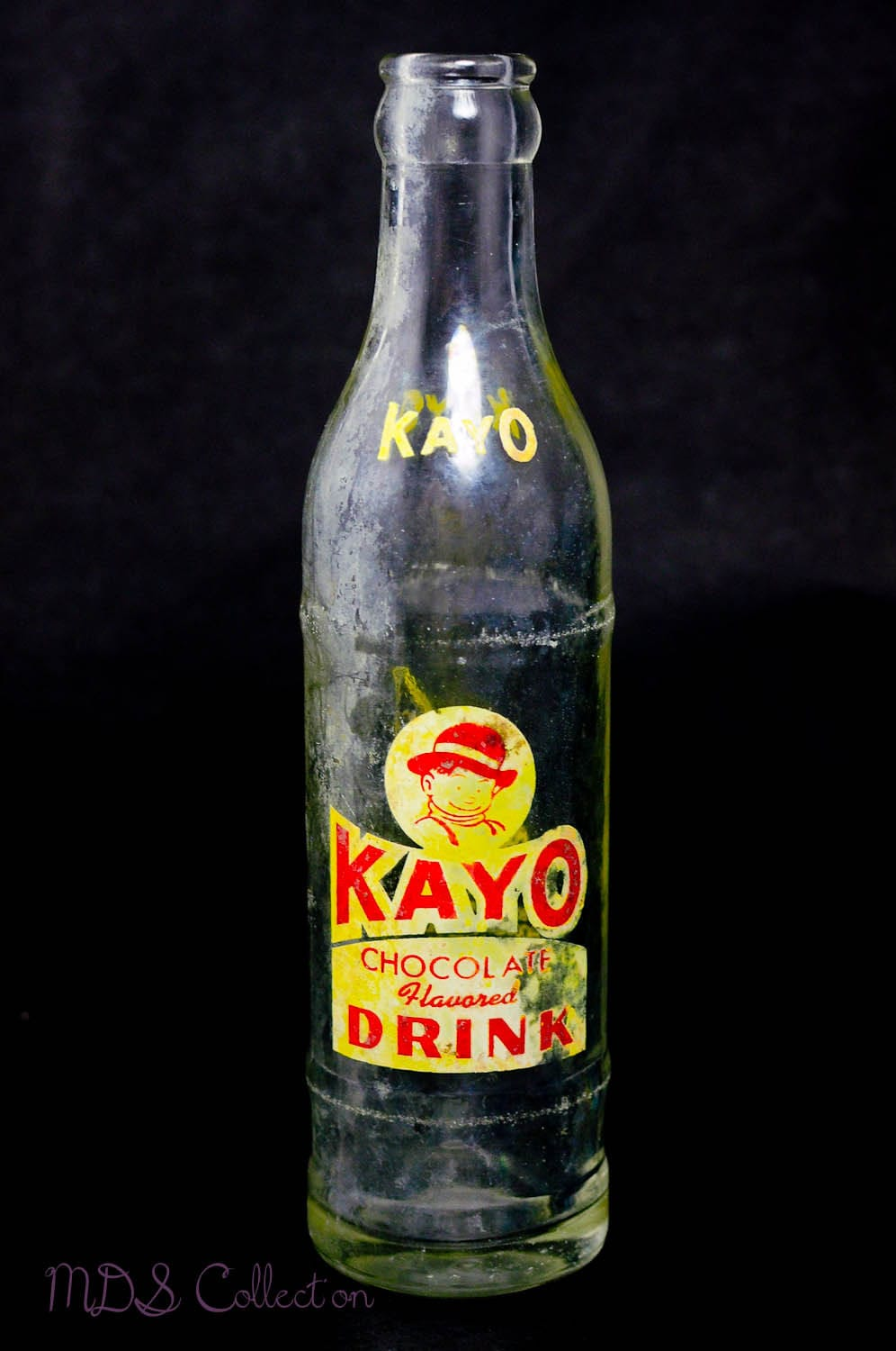 Vintage Kayo Chocolate Drink Bottle With Patina