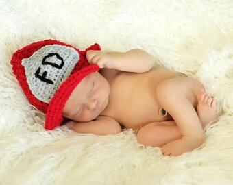 PATTERN Fireman hat / helmet - Crochet