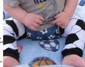 SOCCER baby leg warmers.  Great for babies, toddlers, and young kids