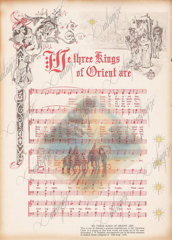 It is a graphic of Epic We Three Kings Lyrics Printable