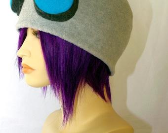 Invader ZIM robot GIR cap - handmade fleece robot cap