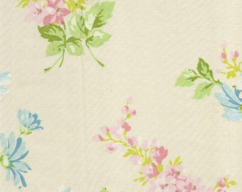 ONE Sweet Vintage Sheet Fat Quarter, Vintage Floral Fabric, Vintage Fabric, Reclaimed Fabric, Sewing Supplies, Quilt Supplies, PF15