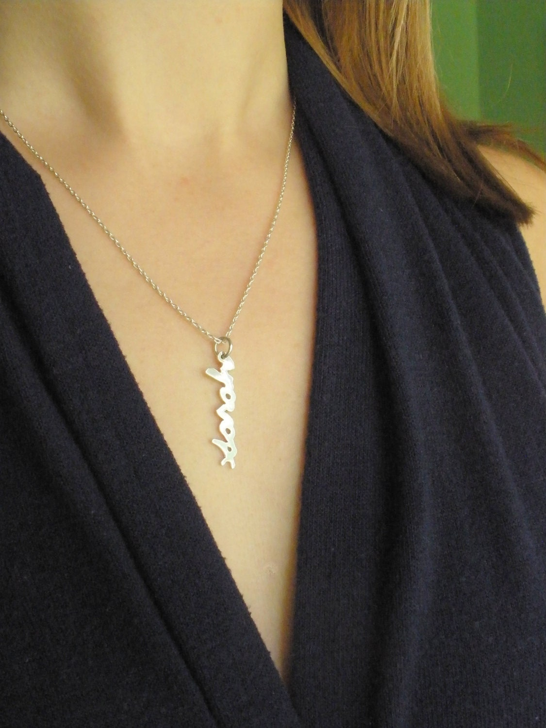 baby name necklace sterling silver name by alexisromeojewelry