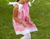 Girls Pink Dress, Pillowcase Dress,  2T 3T 4T 5T 6T - LittleRoyaltyCouture