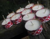 Upcycled Wine Screw Cap Soy Tea Light Candles - 5 color options
