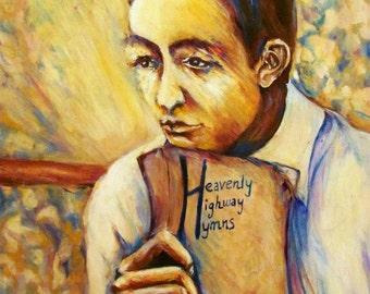 "Johnny Cash Art Print: ""Heavenly Highway"""