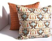 Two 18x18 Orange Pillows - Decorative Throw Pillow Covers - Pair Pillow Covers -  Orange Pillow Covers - Fall Pillows