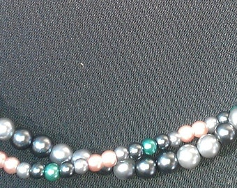 Two-Stranded Beaded Necklace