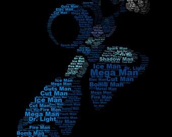 Mega Man Typography Print