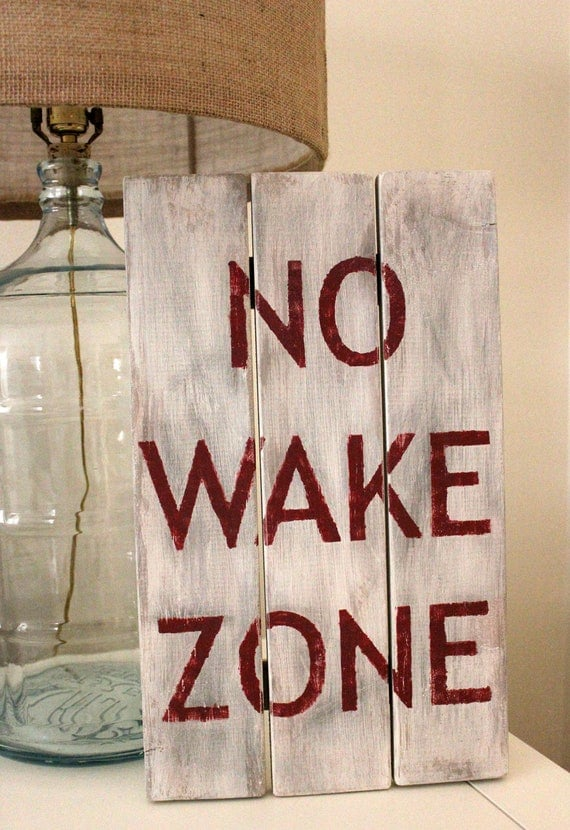 Hand painted no wake zone wooden sign beach for Home decor zone glasgow