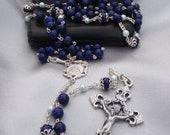 Blue Lapis Lazuli Rosary with Handmade Chain