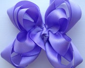 Lavender Stacked Boutique Bow