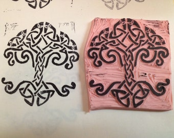 Handmade Celtic Tree of Life Stamp