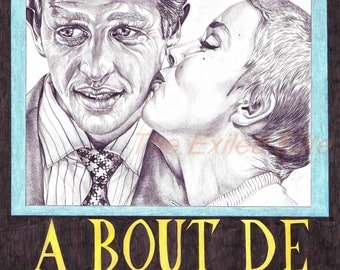 Pencil drawn alternative Breathless poster