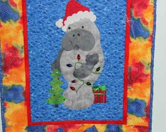 Manny, the Santa  quilted wallhanging