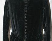 Men's Used Black Velvet Elizabethan/Renaissance Reenactment Costume - Large Size