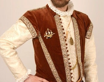 Pattern for Men's Elizabethan Peascod Doublet and Trunkhose - Small Sizes