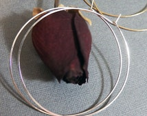 Delicate Sterling Silver Hoops - ALL SIZES - Fine Handcrafted Hoops - Everyday Elegance