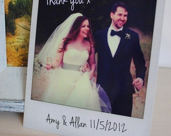 Personalised Instant Photo Wedding Thank You Cards / Personalised Save the Date Cards