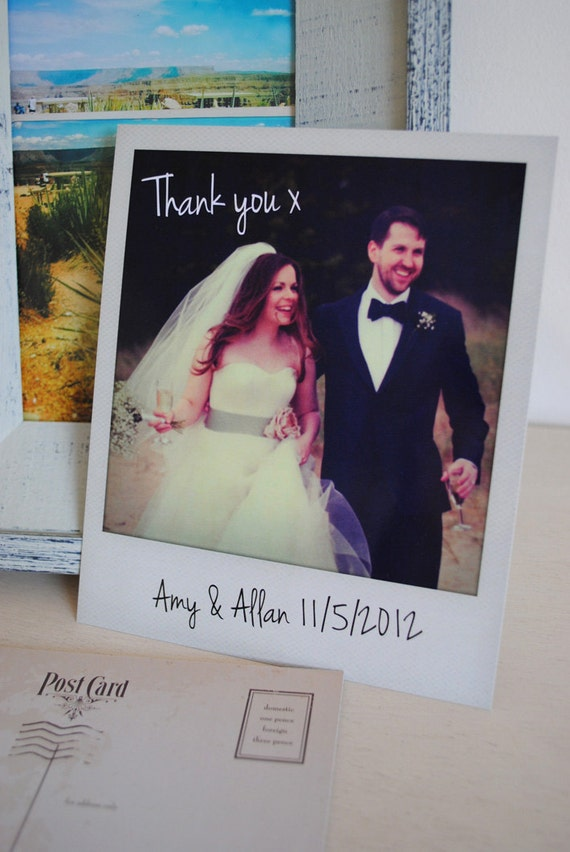 Personalised Instant Photo Wedding Thank You Cards – Personalised Wedding Thank You Cards