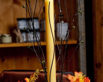 Natural Beeswax Tapered Candle