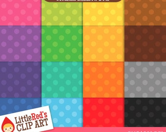 Polka Dot Digital Paper Patterns - medium two-tone - personal and commercial use
