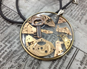 KEY to -...-  Steampunk jewelry -necklace-