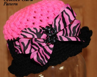 Crochet Hat Pattern - Cloche Hat - 5 Sizes - Baby to Adult - Instant Download - PDF Format