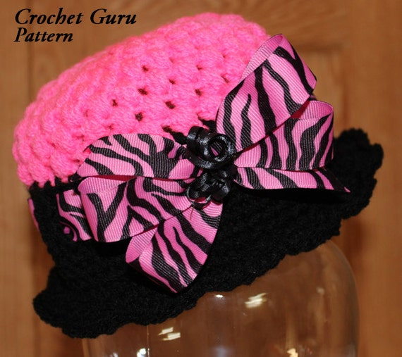 Crochet Hat Pattern Cloche Hat 5 Sizes Baby by CrochetGuruShop