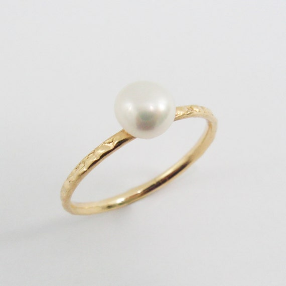 pearl gold ring gold pearl ring gfr 6058 birthday by