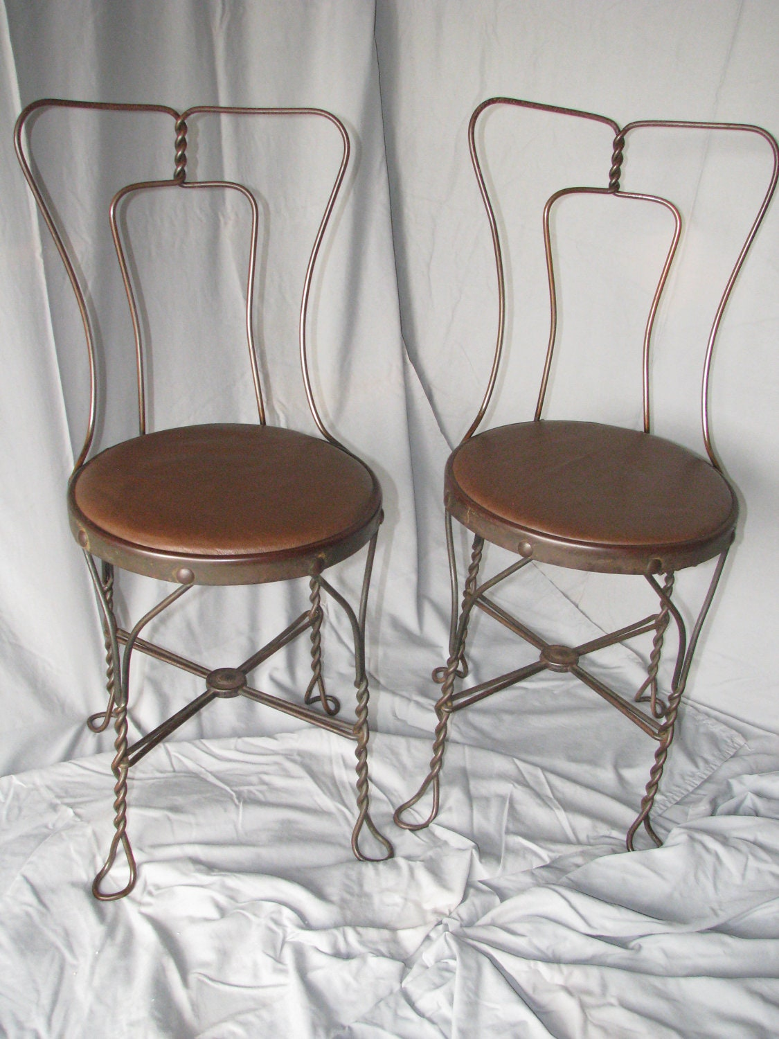 Vintage Ice Cream Parlor Chairs