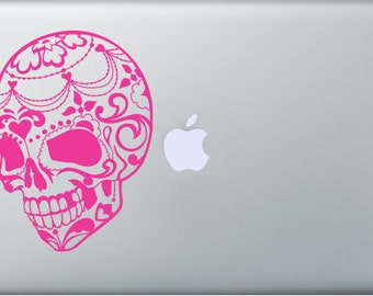 Sugar Skull Decal for anything including Macbooks and ipads
