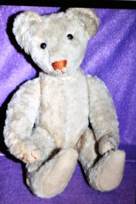 Antique 1907 Very Rare Hecla Mohair Teddy Bear