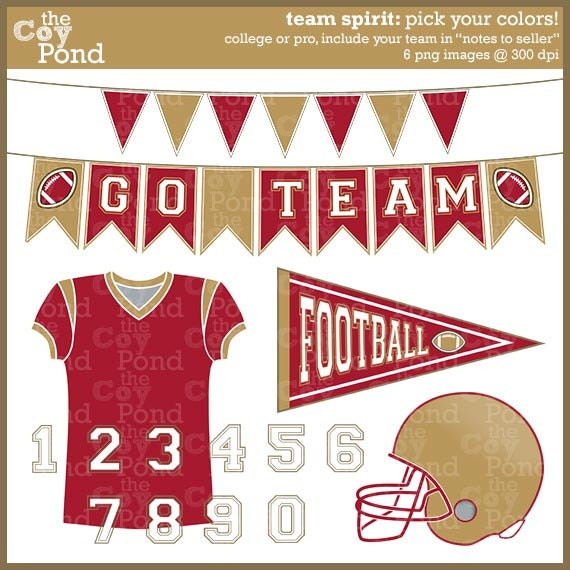 Displaying (19) Gallery Images For Go Team Football Clipart...