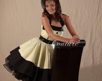 Custom Made & Handmade - 50s petticoat dress item: 08 cream