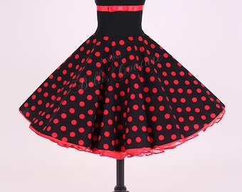 50s petticoat dress black/red item: 5603