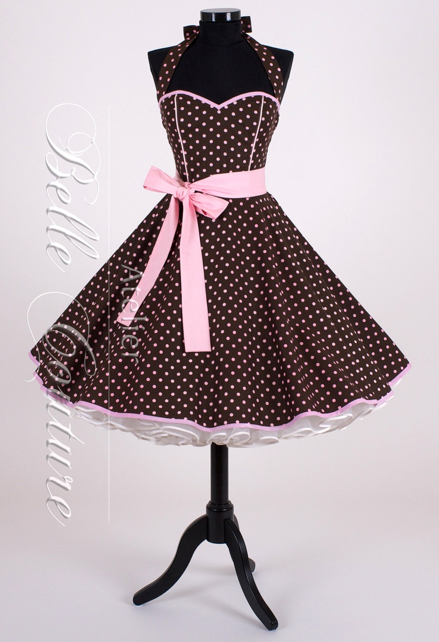 50s petticoat dress brown pink item 3010 by. Black Bedroom Furniture Sets. Home Design Ideas