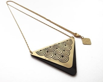 LITTLE WAVE gold necklace