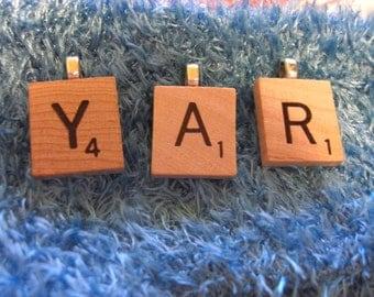 Scrabble Necklace Pendant - Pick your letter - no chain