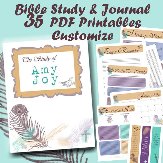 Bible Study Journal Binder in Rainbow Dots {158+ pages}