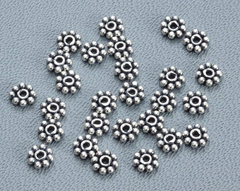 20 of 5mm Sterling Silver Daisy Spacers S5004
