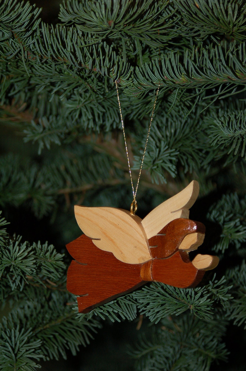 ANGEL CHRISTMAS ORNAMENT Wood Carving. A meaningful symbol